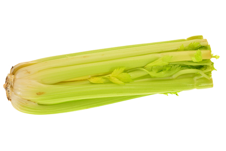 Green Celery Isolated On White Background photo