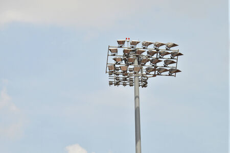 Flood Lights At A Stadium photo