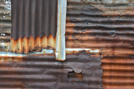 corrugated metal: Rusty Corrugated Metal Sheets