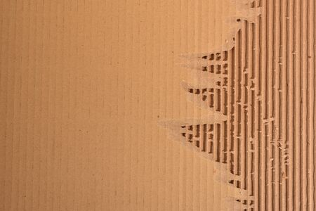 fluted: Peeled Corrugated Board Showing The Fluted Corrugated Sheet