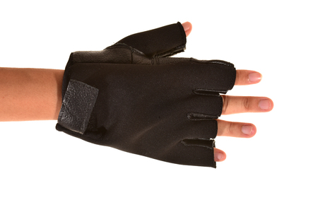 Black Leather Workout Gloves