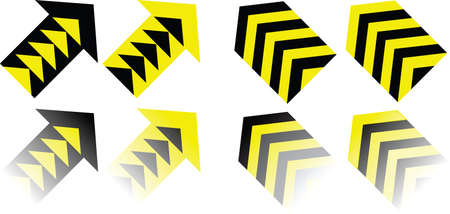 yellow and black: Yellow black arrows Illustration