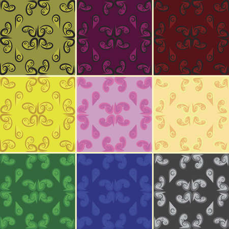 original design: Vector Seamless Patterns With Original Design. 9 sets. EPS10.