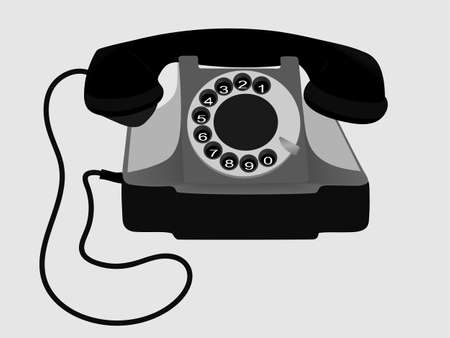 corded: Old Phone. Vector. EPS10. Illustration
