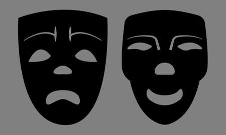 visard: Sad And Happy Masks. Vector   Illustration