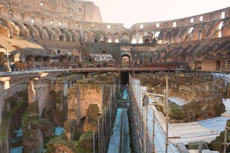 Colosseum in Rome roman amphitheater, Italy. Main italian landmark for tourists