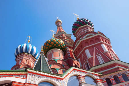 Saint Basil cathedral in Moscow Russia Stock Photo