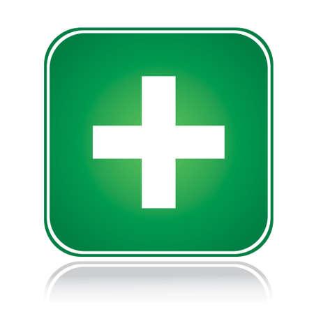 coincidir: Signo de cuadrado verde aprobar la acci�n m�s blanco m�s