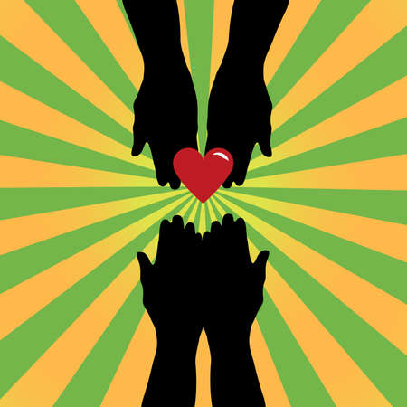 visz: Silhouette of hands giving love symbol