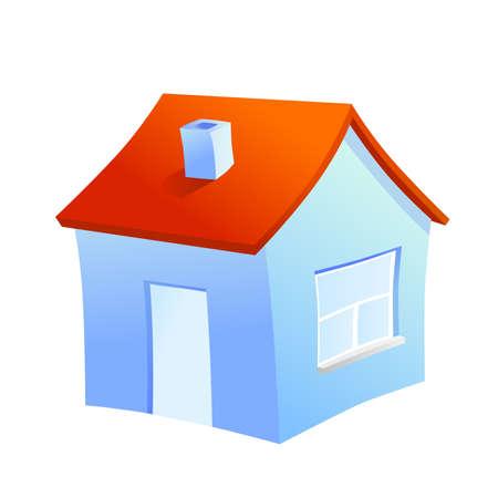 1 place: Casa de la familia icono colores sobre fondo blanco