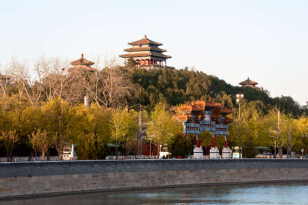 Jingshan park which at the north gate of Forbidden city, Beijing Stock Photo