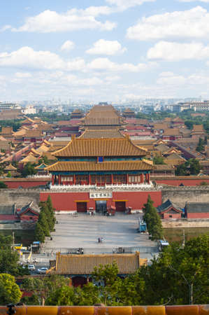 Landscape of Forbidden City, view for the hilltop of Jingshan park