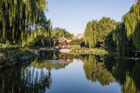 Chinese style park view photo