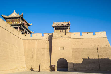 jiayuguan: Jiayuguan, west end of Great Wall, Gansu of China Editorial