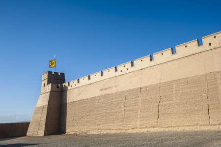 jiayuguan pass tower: City wall of Jiayuguan, Gansu of China Editorial