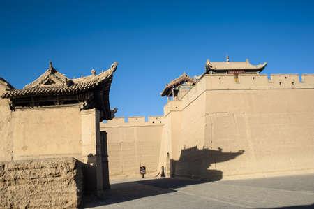 jiayuguan pass tower: Jiayuguan castle, Jiayuguan city, Gansu of China Editorial