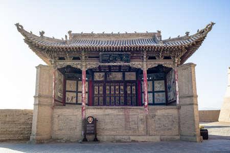 jiayuguan pass tower: The stage inside Jiayuguan castle, Jiayuguan city, Gansu of China