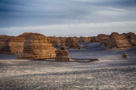 Yardang landscape in Dunhuang, Gansu of China Stock Photo