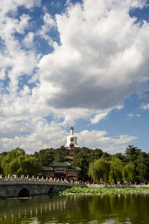 Scene of imperial park , Beihai in Beijing photo