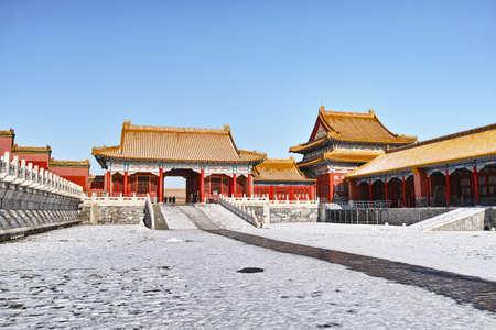 Forbidden City in winter