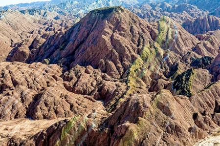 landform: Danxia landform in Zhangye, Gansu of China