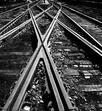 Crossed railway