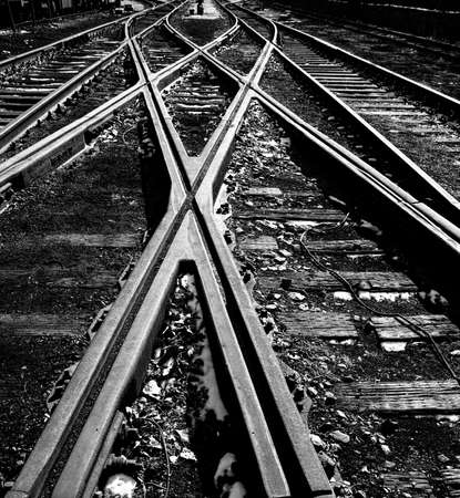 Crossed railway  photo