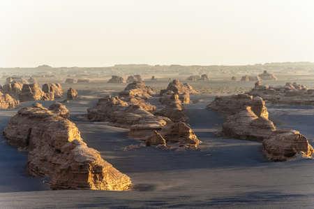 landform: Yardang landform in Dunhuang, Gansu of China