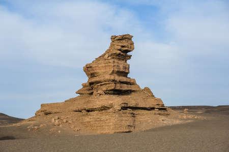 landform: Ghost City, Yardang landform in Dunhuang, Gansu of China