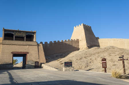 jiayuguan: Entrance gate of Jiayuguan castle, Gansu of China