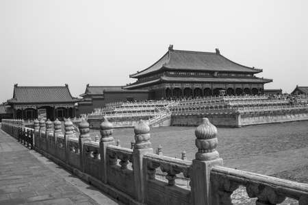 b and w: Taihe palace in Forbidden City  B W
