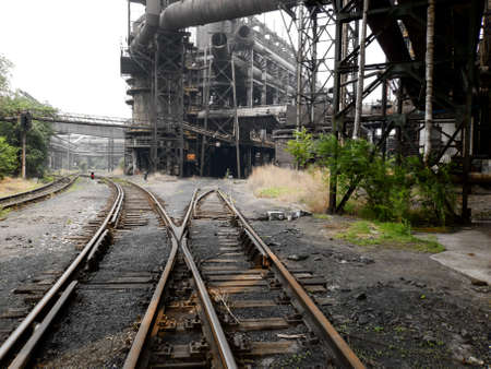 steel works: Abandoned steel works in Beijing, China