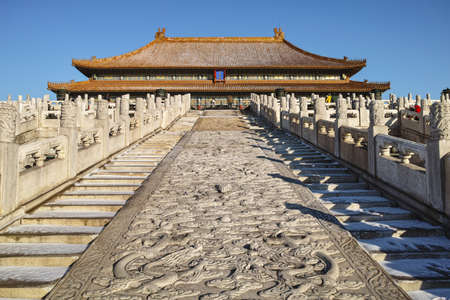 Taihe palace in Forbidden City, Beijing of China