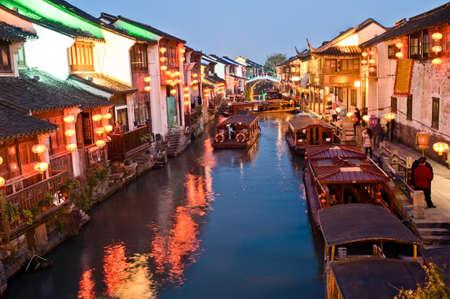 nightscene: Nightscene of Suzhou street