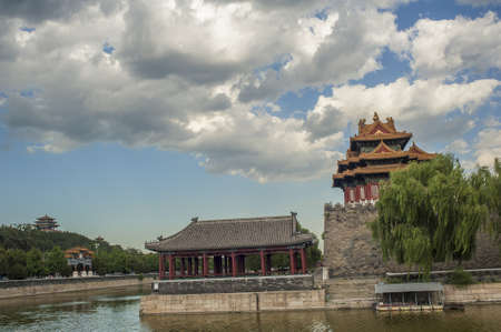 Forbidden City under the cloudy day