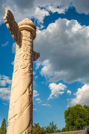The ornamental columns erected beside Tiananmen tower Stock Photo