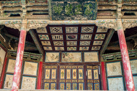 jiayuguan: The decoration pictures on a stage of Jiayuguan castle