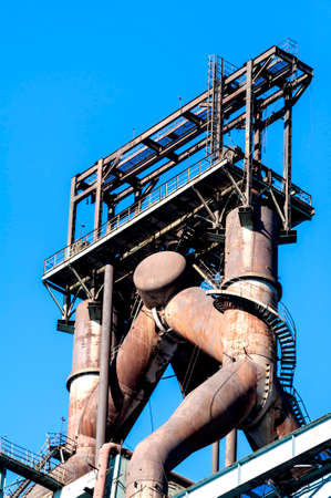 steel works: Abandoned steel works equiments