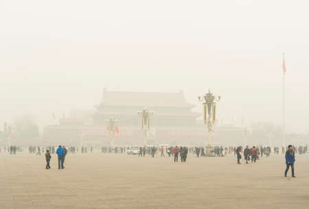 Tiananmen square enveloped by the heavy fog and haze in Jan 29, 2013  Many China s cities face serious air pollution and poor air quality as the development of industry