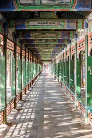 The long corridor in Summer Palace, Beijing