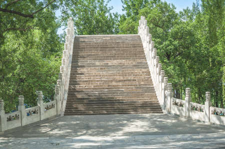the summer palace: Arch bridge in Summer Palace Stock Photo