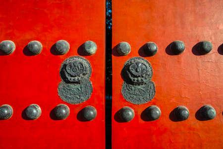 Forbidden City: Red gate in Forbidden City