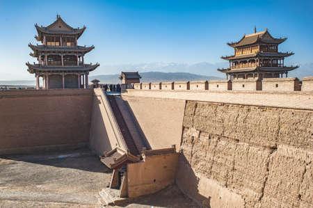 china landscape: Jiayuguan Castle,Gansu of China