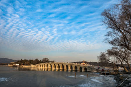 seventeen: Seventeen Hole bridge of Summer Palace in winter