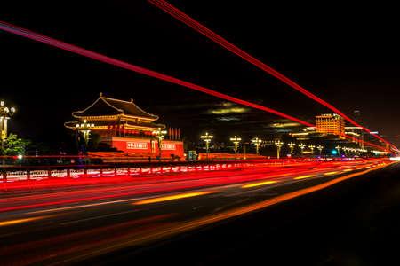 nightscene: Nightscene of tiananmen tower, Beijing