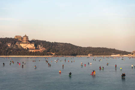 summer palace: Scenery of Summer Palace in winter
