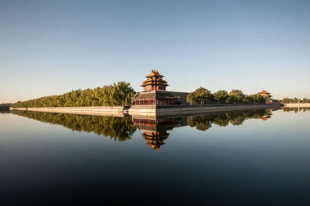 watchtower: Watchtower of Forbidden City in the morning