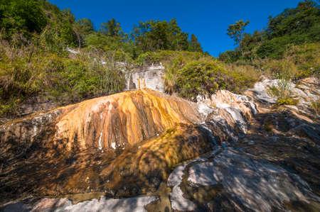 therapy geothermal: Sulphur rock in Tengchong geothermal park, yunnan of China Stock Photo