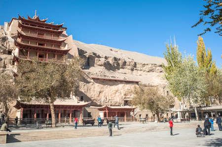 Mogao Grottoes, Dunhuang, Gansu of China Editorial