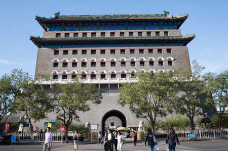 Beijing,China-September 27,2010: Qianmen Tower, located at the south side of Tiananmen Square